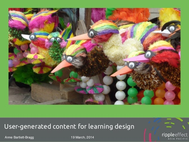 User-generated content for learning design