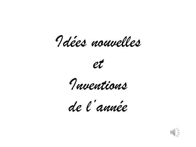 Idées nouvelles et Inventions de l'année