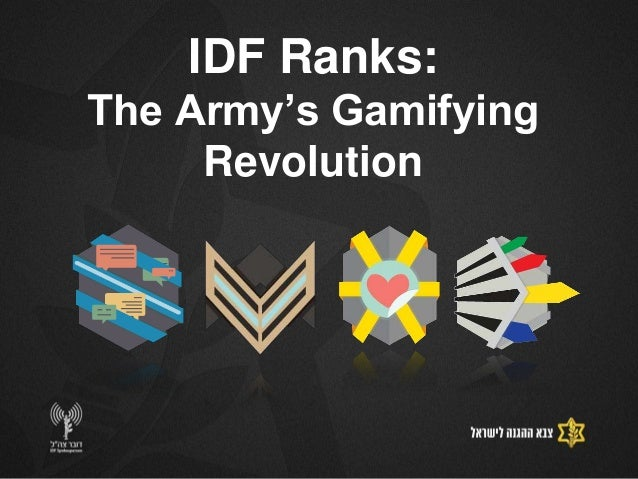 IDF Ranks:The Army's Gamifying     Revolution