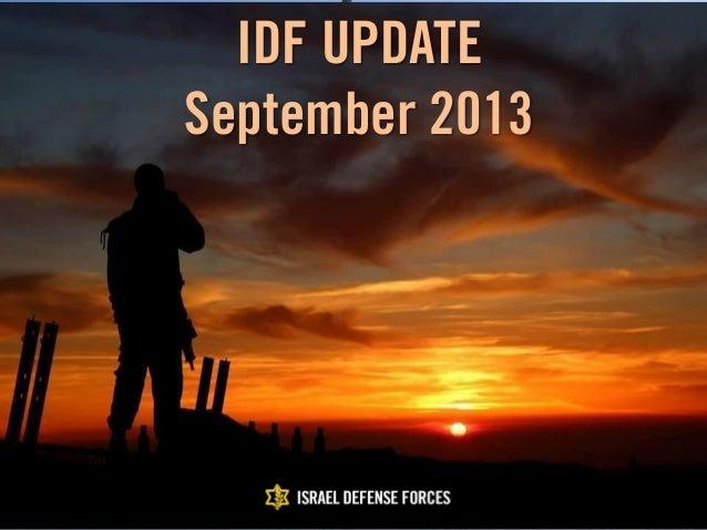 IDF Update: September 2013