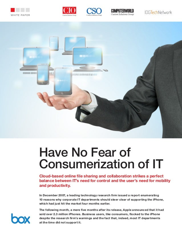 Idg have no fear of consumerization of it wp