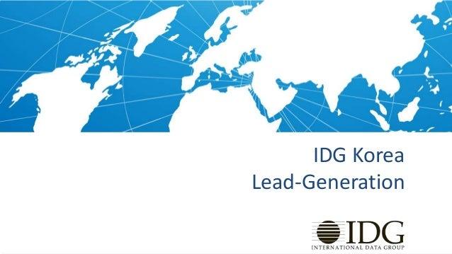 Idg korea   lead generation 2013 - print