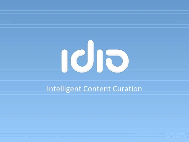 Intelligent Content Curation