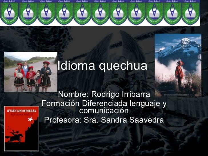 Idioma Quechua