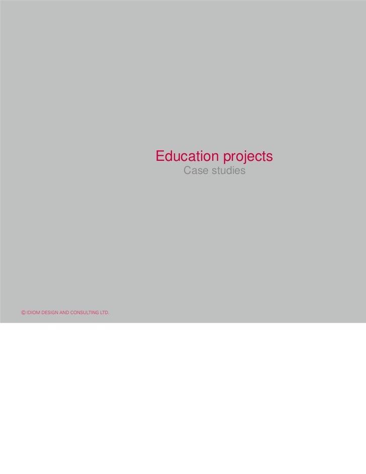 Education projects    Case studies