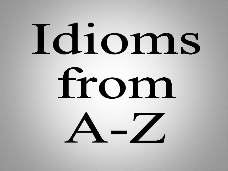 formal idioms for essays