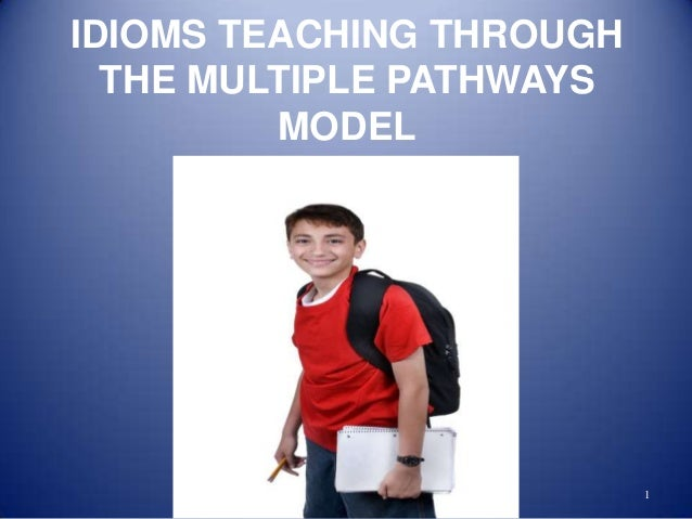 Idioms teaching through the multiple pathways model