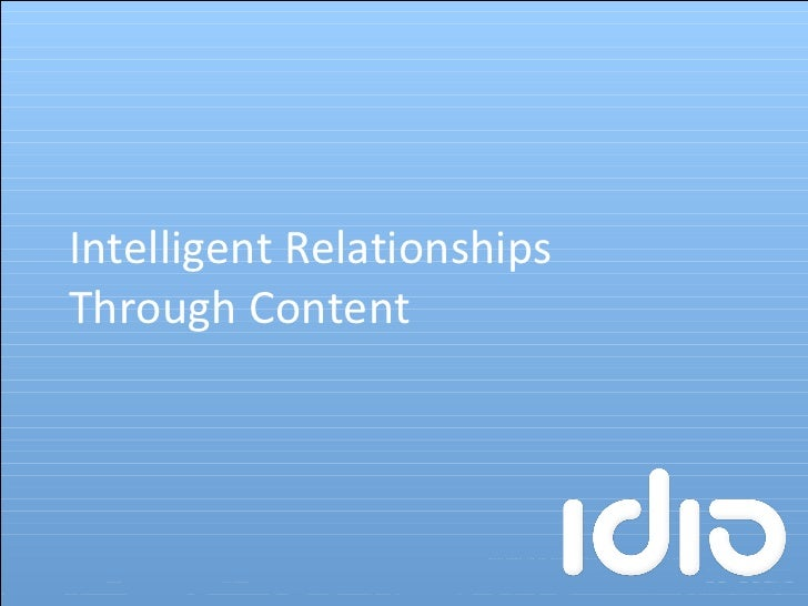 Intelligent Relationships Through Content