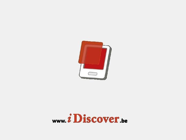 iDiscover                         Interactief erfgoedUniversiteit Hasselt - Expertise Centrumvoor Digitale Media          ...