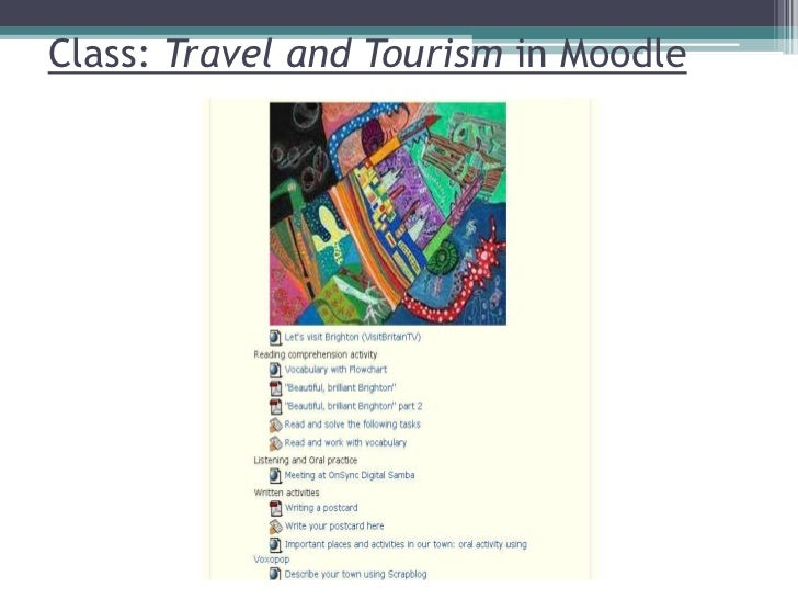 Class: Travel and Tourism in Moodle<br />