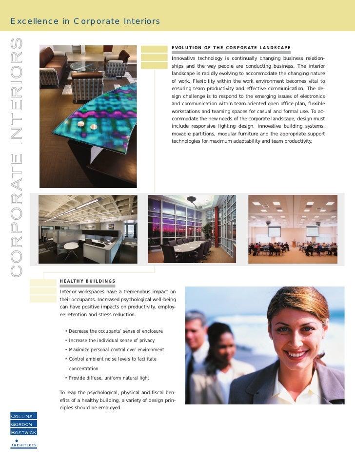 Excellence in Corporate Interiors                                                                 E V O L U T I O N O F T ...
