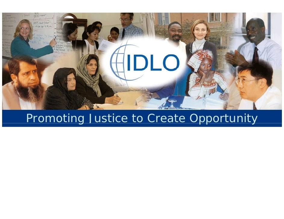 IDLO in brief - August 2009