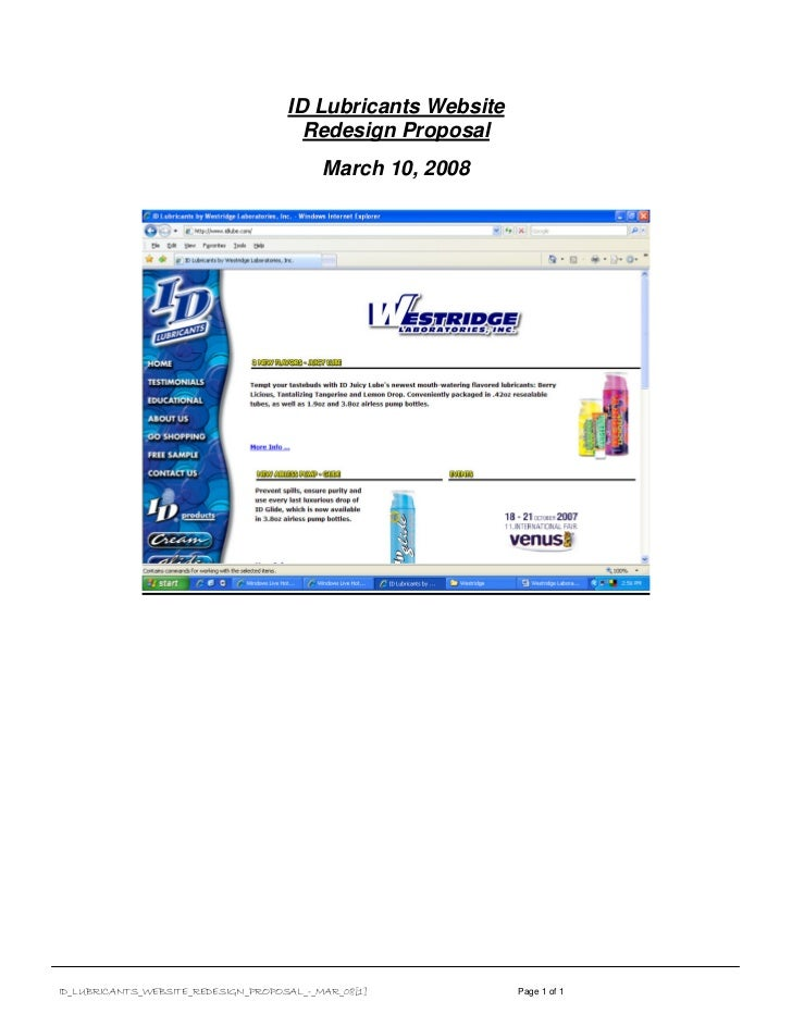 ID Lubricants Website                                       Redesign Proposal                                           Ma...