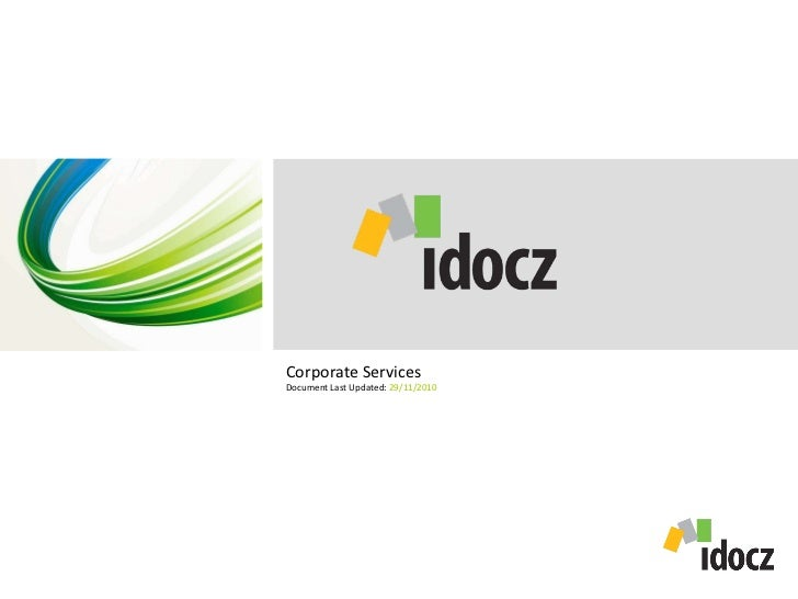 Corporate Services Document Last Updated:  29/11/2010