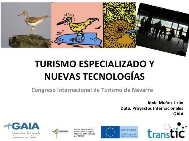 Turismo especializado y nuevas tecnologias