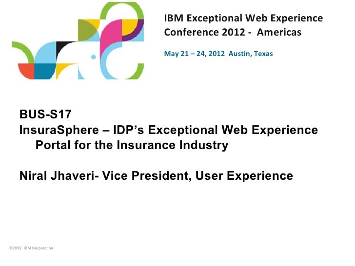 IDP's Presentation from IBM's Exceptional Web Experience Conference