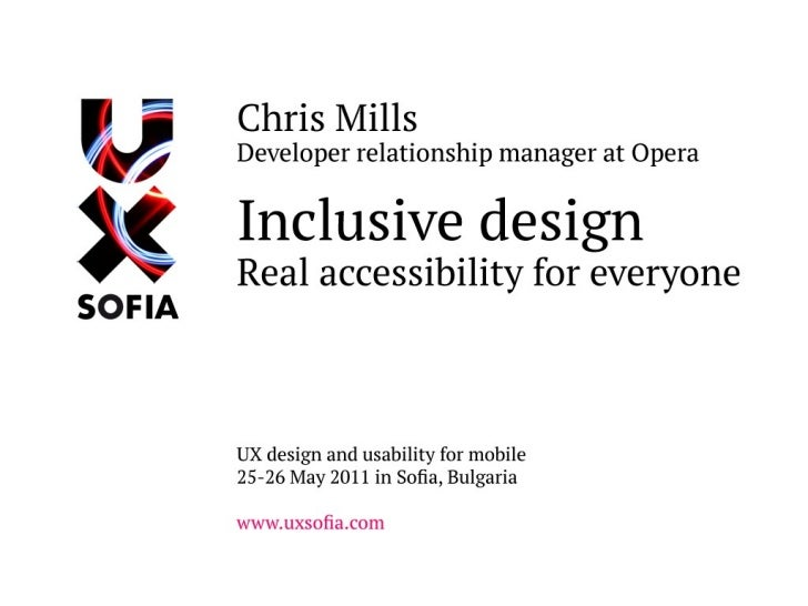 Inclusive design: real accessibility for everyone