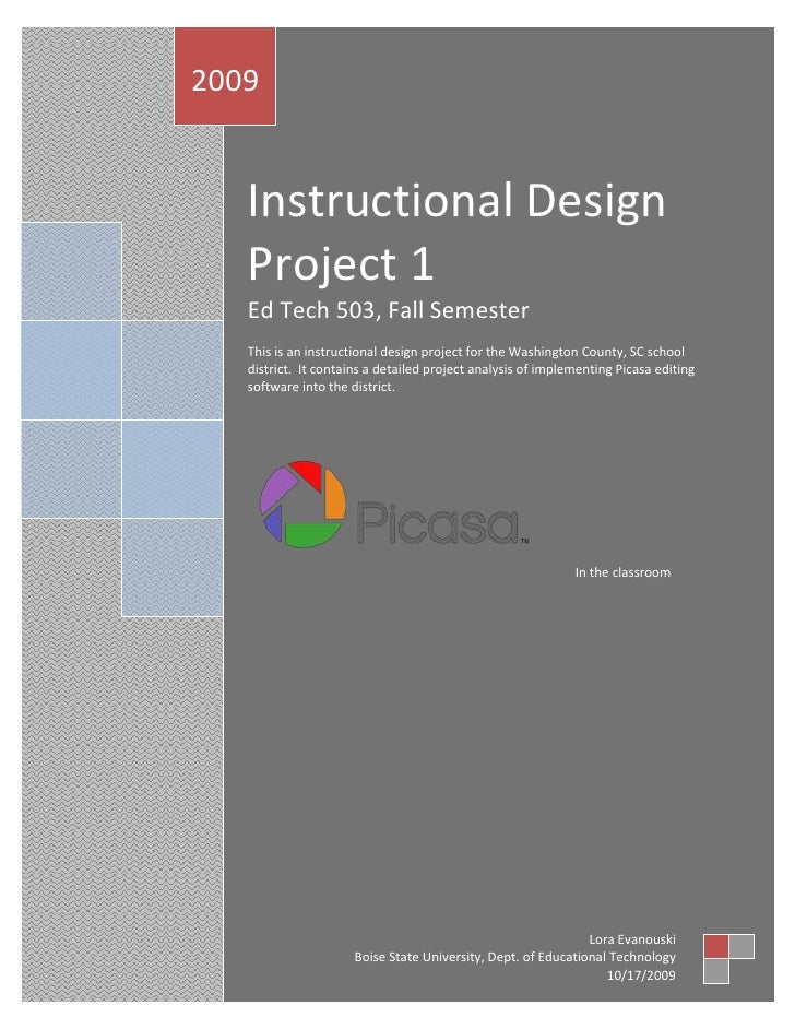Instructional Design Project 1Ed Tech 503, Fall SemesterThis is an instructional design project for the Washington County,...