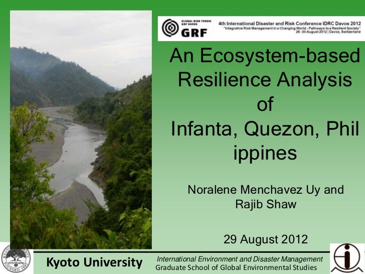 An ecosystem-based resilience analysis of Infanta, Quezon, Philippines
