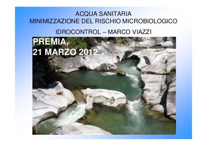 Idrocontrol intervento convegno Premia