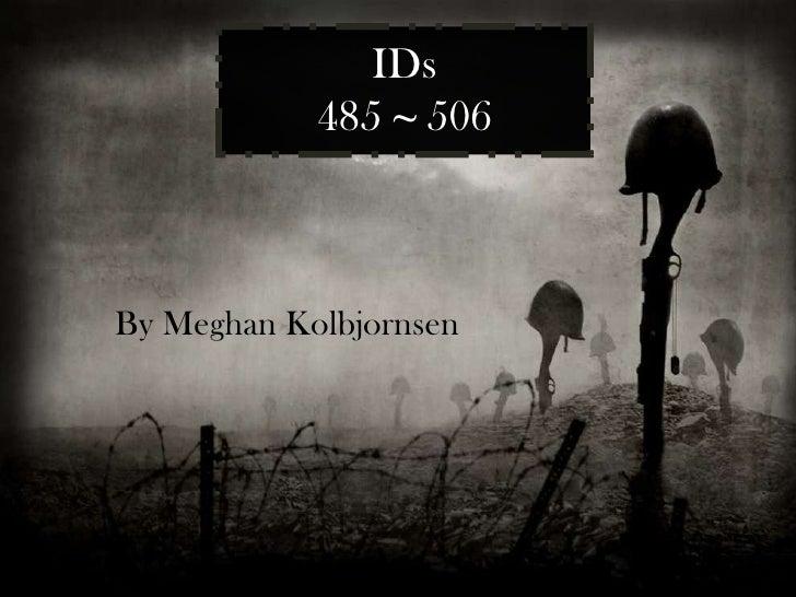 IDs 485  ~  506 By Meghan Kolbjornsen