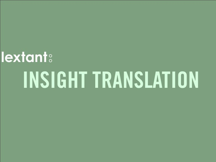 INSIGHT TRANSLATION