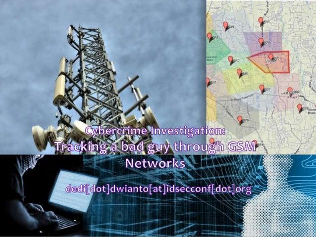 AgendaGSMPenegak HukumBarang Bukti :ME (Mobile Station)Data Telco