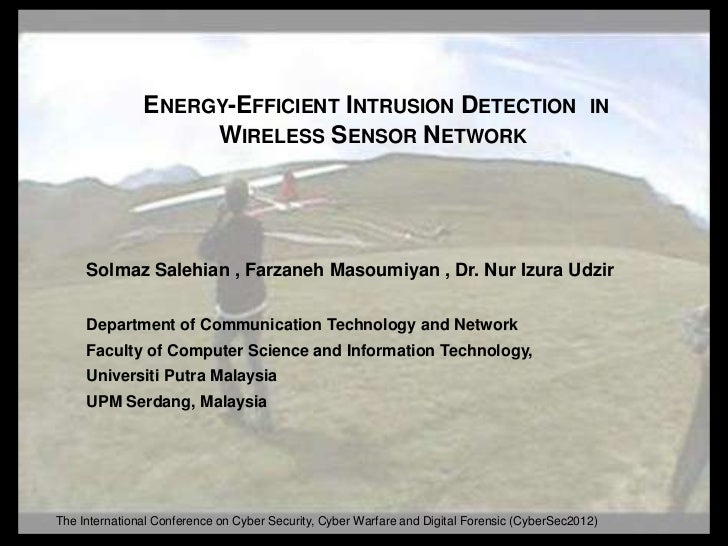 ENERGY-EFFICIENT INTRUSION DETECTION                                            IN                    WIRELESS SENSOR NETW...