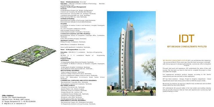 Idt Architect Profile
