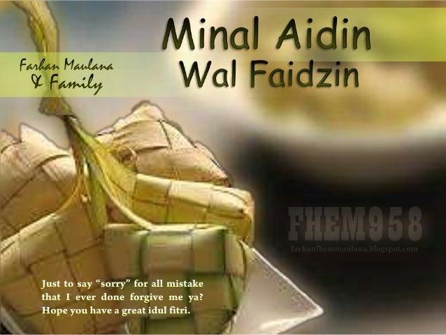 Minal Aidin Wal Faidzin