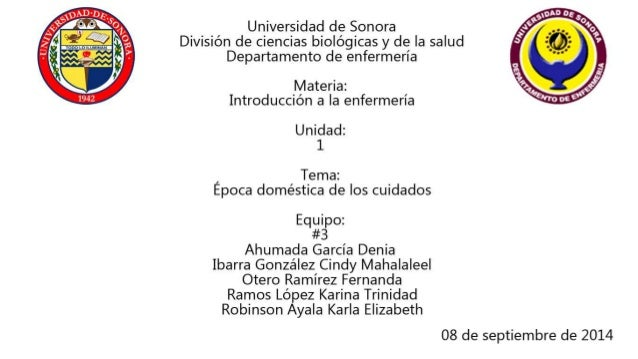 Universidad de Sonora División de ciencias biológicas y de la salud Departamento de enfermería  Materia:  Introduccion a l...