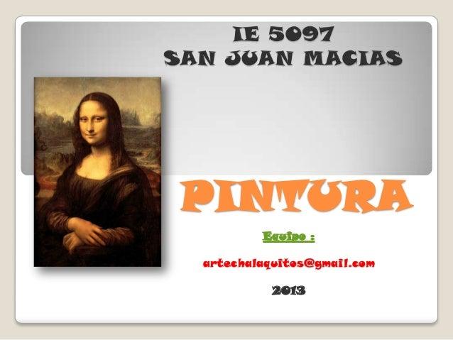 I.E. 5097 S.J.M. Pintura