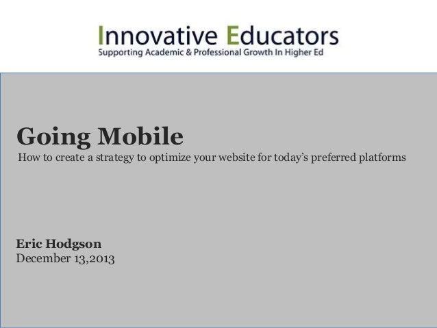 Innovative Educators: Going Mobile