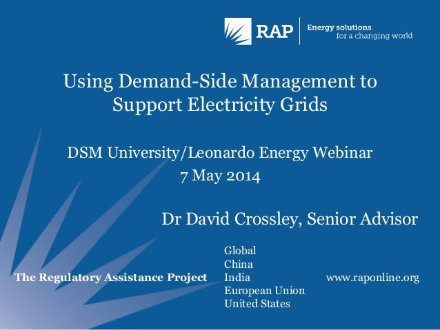 Using Demand-Side Management to Support Electricity Grids