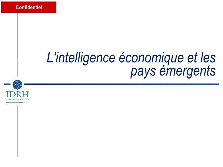 L'intelligence économique et les pays émergents