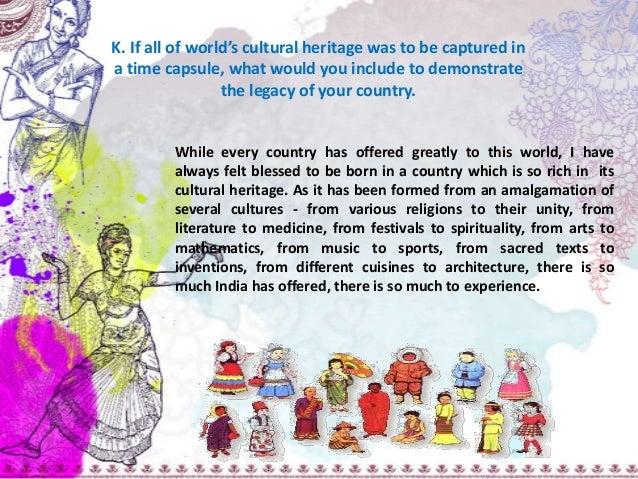 Essay on world heritage