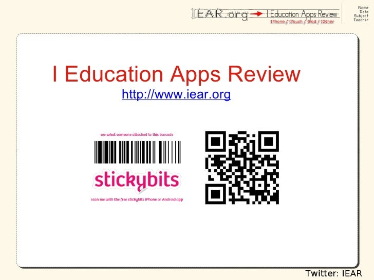 I Education Apps Review http://www.iear.org