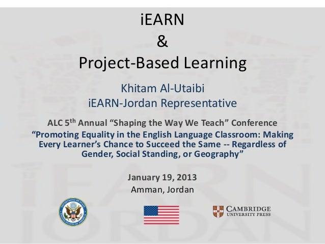 iEARN                    &          Project-Based Learning                  Khitam Al-Utaibi             iEARN-Jordan Repr...
