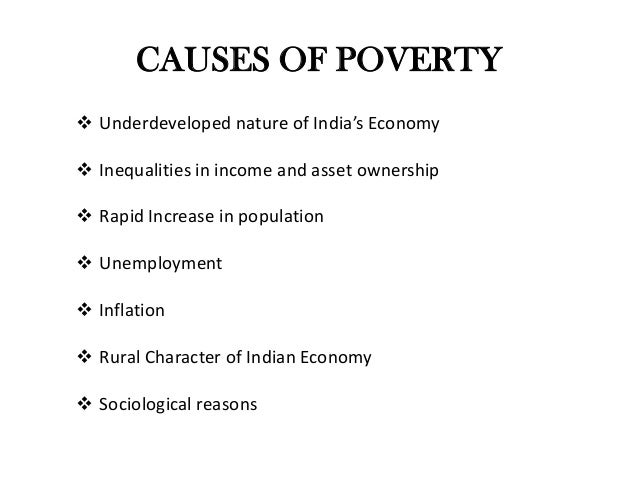 causes of poverty in india pdf
