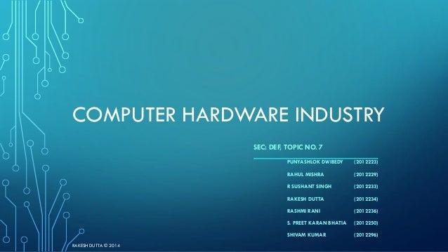 Computer Hardware Industry Analysis