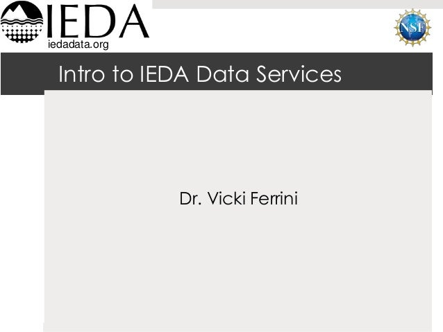 Data Management Planning and Data Compliance Reporting with IEDA