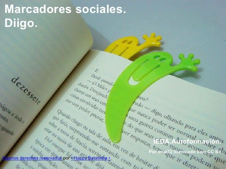Ieda marcadores sociales: Diigo