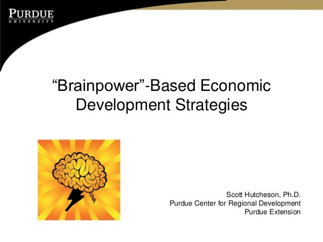 Brainpower-based Economic Development Strategies