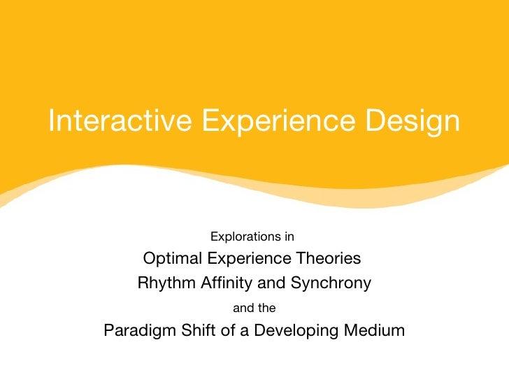 Interactive Experience Design