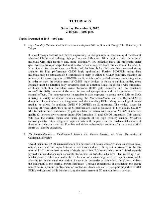 Iedm 2012 techprogram
