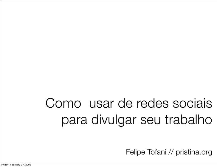 Felipe Tofani - IED Workshop