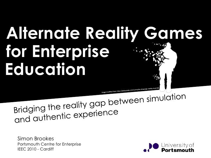 Alternate Reality Games for Enterprise Education: Bridging the reality gap between simulation and authentic experience
