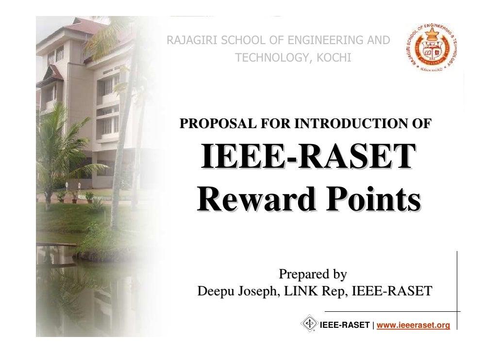 IEEE-RASET Reward Points