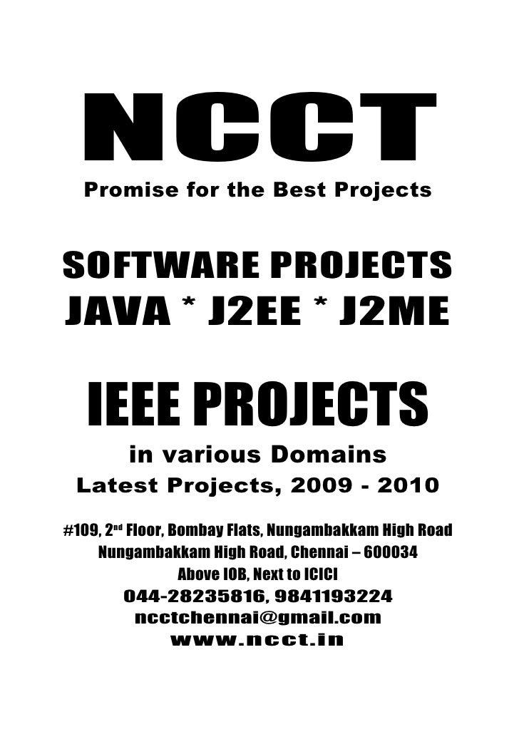 Ieee 2009 J2 Ee Projects, Ieee 2009 J2 Me Projects