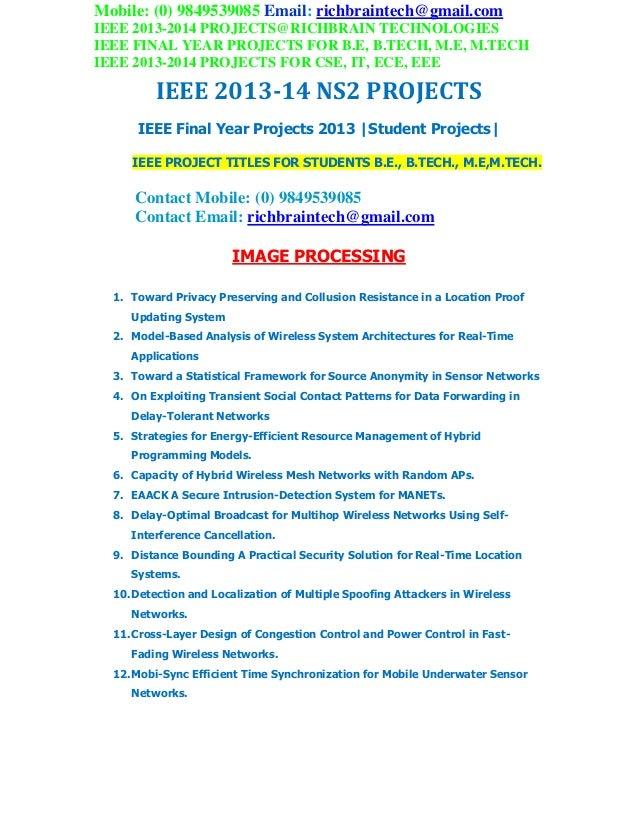 Ieee 2013 2014 ns2 project titles richbraintechnologies